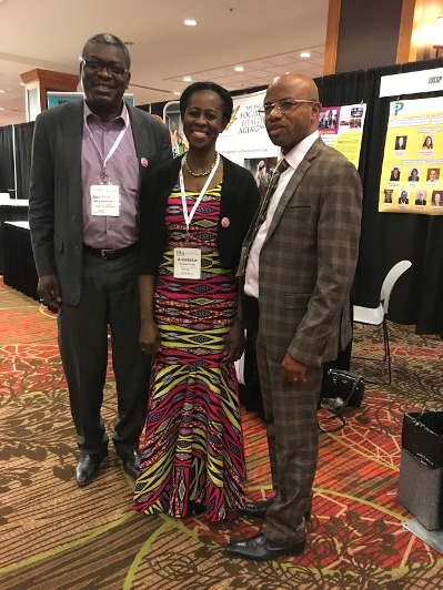 Left to right: Jean-François Kobiane, IUSSP Council Member, Anastasia Gage, former IUSSP President, Jacques Emina, University of Kinshasa
